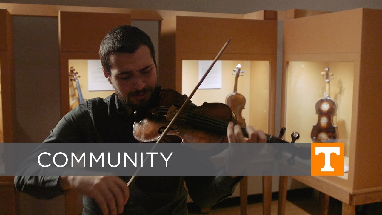 UT Violin Student Plays the Instruments of Holocaust Survivors