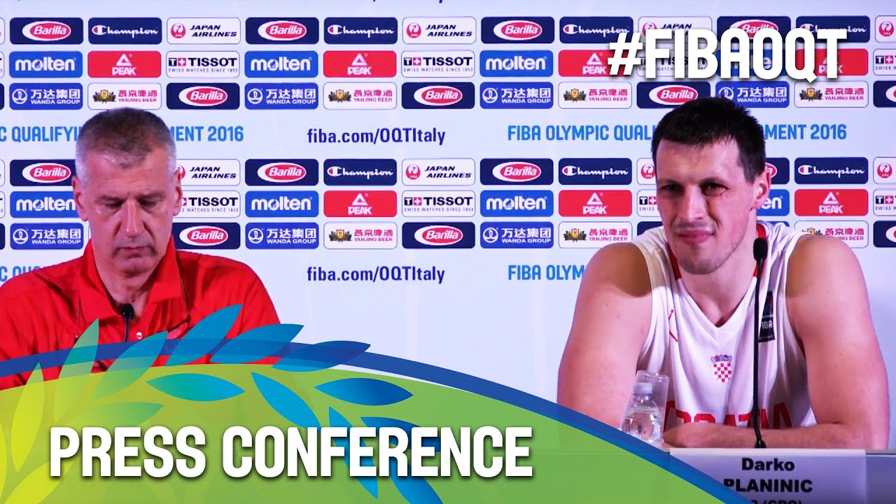Croatia v Italy - Press Conference - 2016 FIBA Olympic Qualifying Tournament