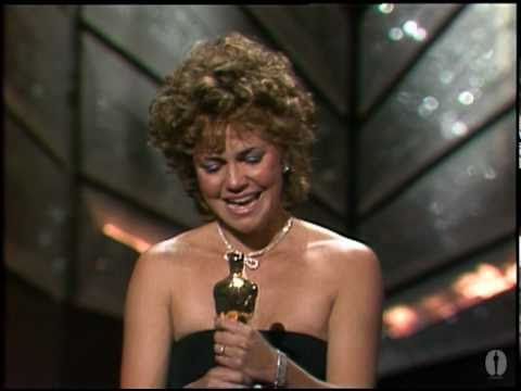 """Sally Field winning an Oscar® for """"Places in the Heart"""""""