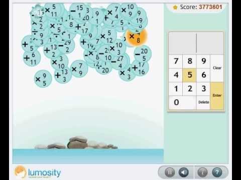Lumosity Raindrops Game Million Point Score