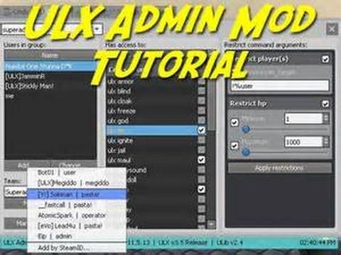 ulx how to add admin