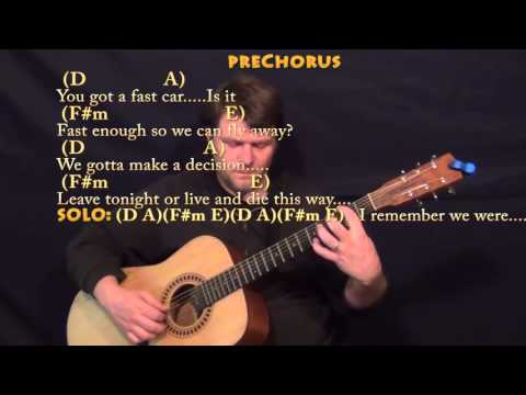 Video Fast Car Tracy Chapman Guitar Cover Lesson In A With