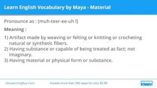 Learn English Vocabulary by Maya - Material