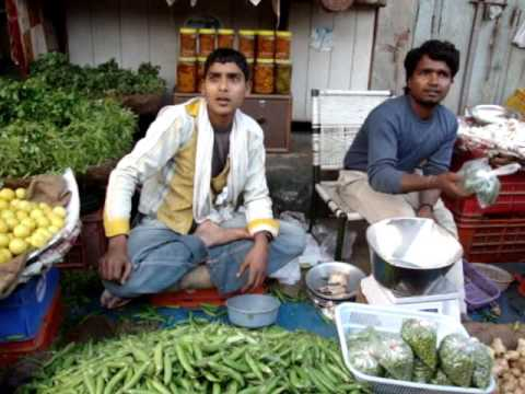 Inflation: vegetable market in India