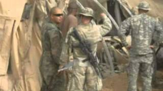 HHT 2-14 Cav Medics 172nd SBCT Rocket Attack - Rawah, Iraq.mp4