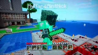 Minecraft XBLA Edition - TNT Jump Cannon (Test )