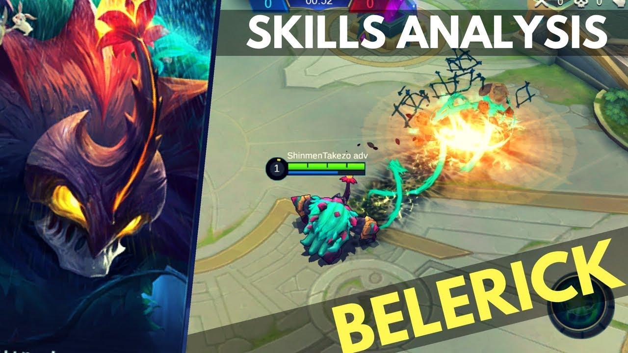 Superb BELERICK : NEW TANK HERO SKILL AND ABILITY EXPLAINED | Mobile Legends
