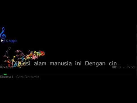 Karaoke Citra Cinta Rhoma Lirik HQ Audio & Video