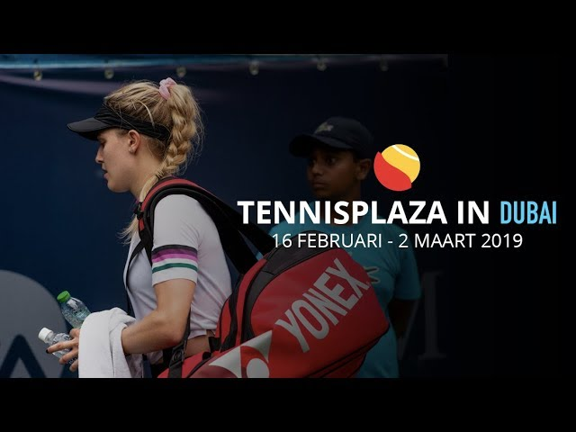 Tennisplaza in Dubai: Reactie Eugenie Bouchard na verlies tegen Simona Helep