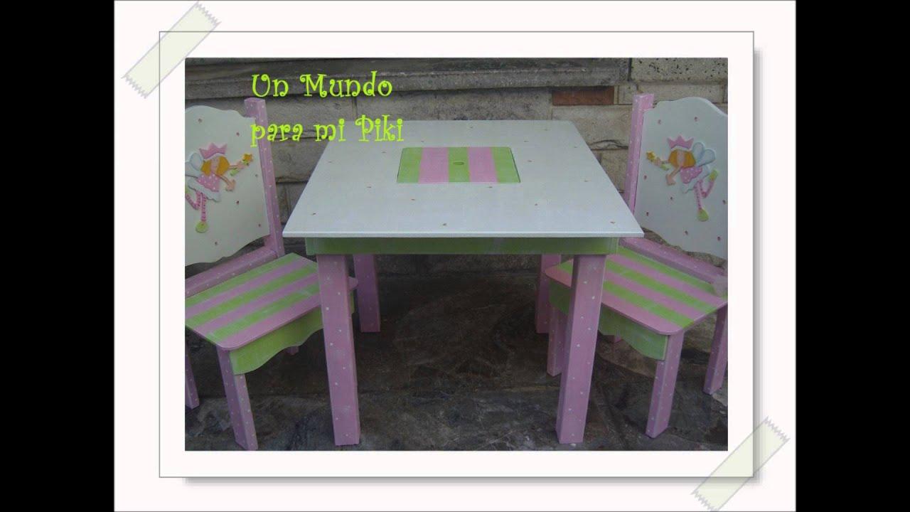 Casitas de mu ecas y muebles infantiles pintados a mano for Pegatinas infantiles para muebles