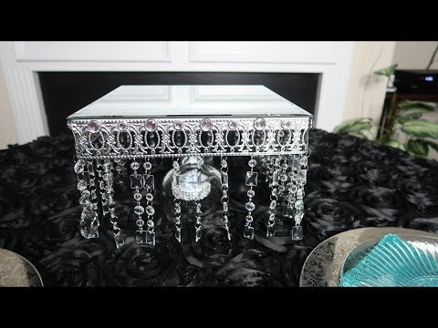 Crystal Mirrored Cake Stand | DIY Tutorial | Wedding Cake Stand