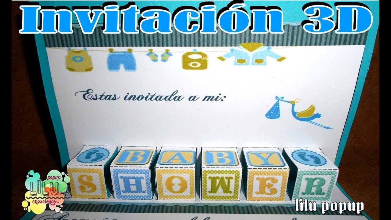 Invitacion Baby Shower 3d Niño Invitation Baby Shower Moldes Gratis