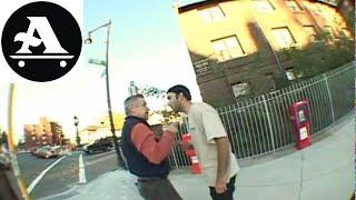 skateboarder fight vs old man