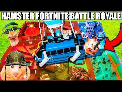 Hamster FORTNITE BATTLE Royale BOX FORT!