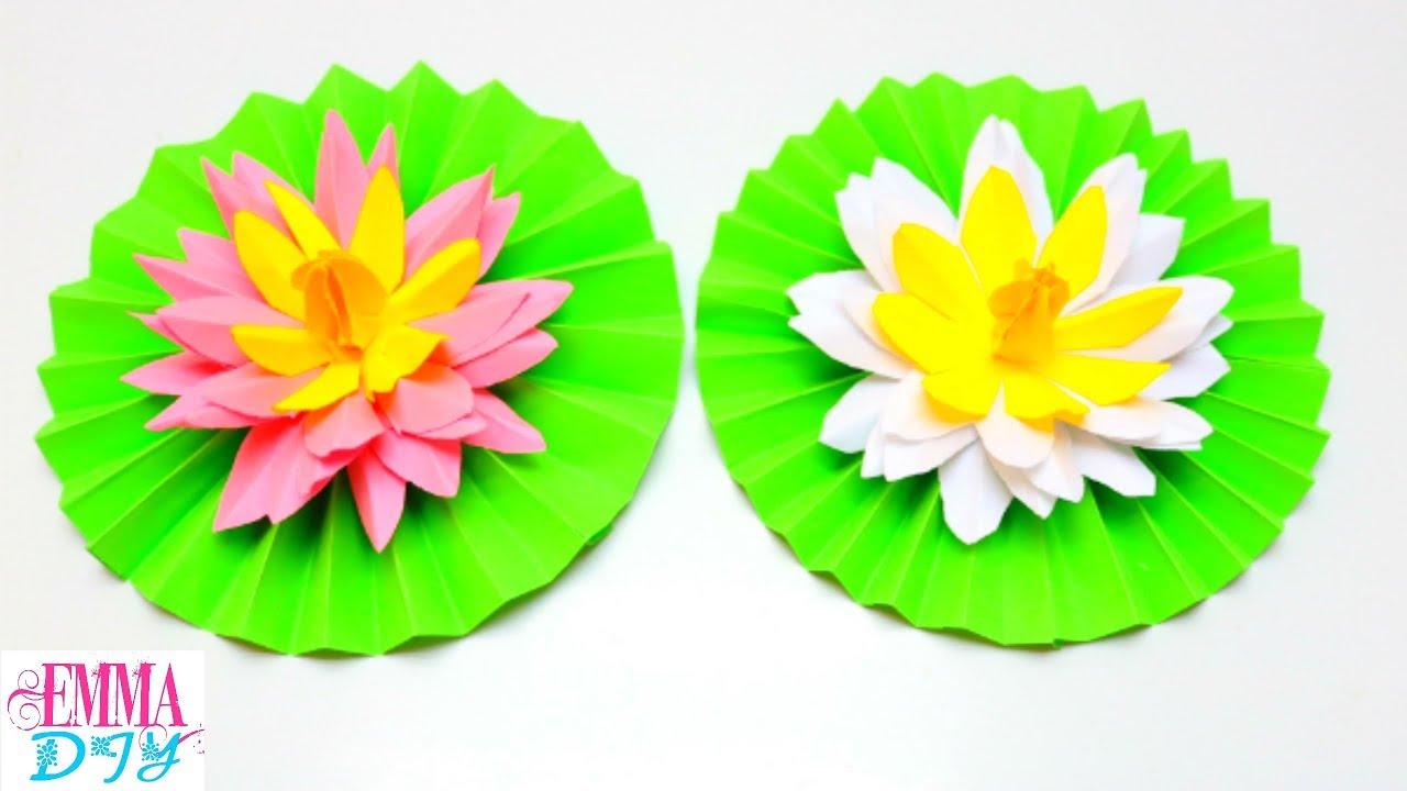 Diy Paper Lotus Flower Paper Flowers Craft Ideas Emma Diy 32