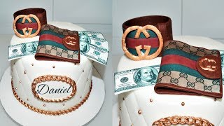Cake decorating tutorials | how to make a GUCCI CAKE | Sugarella Sweets