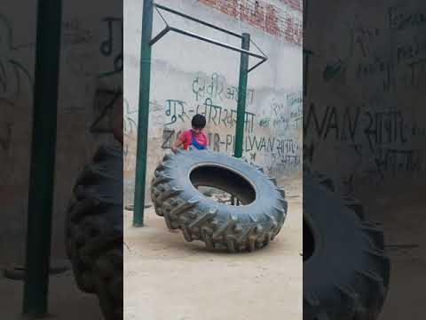 Workout With Tyre By -: Phelvan Anushka Pandit Sikandrabad