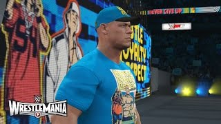 WWE 2K16 John Cena Entrance & Wrestlemania 31 Arena