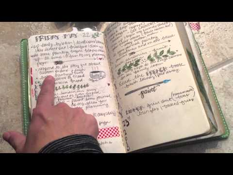Daily Planning in the Midori Monthly Plan Books