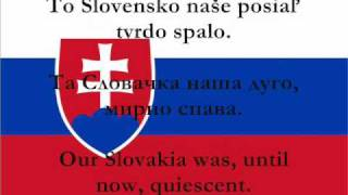 Nad Tatrou sa blýska - National Anthem of Slovakia with lyrics (Slovak, Serbian, English)