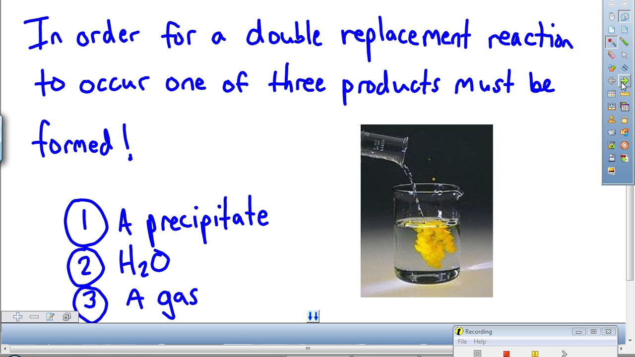 Double Replacement Reactions Predicting Products YouTube – Worksheet 5 Double-replacement Reactions