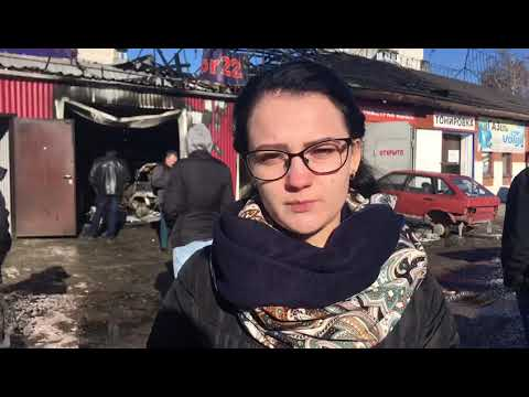 Автомастерская сгорела в Барнауле