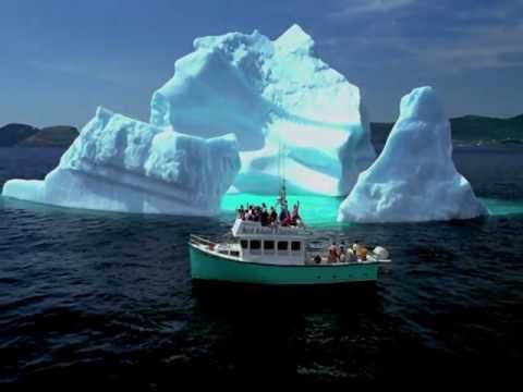 Panoramic Footage Of Icebergs Along The Scenic Shores Of Newfoundland And Labrador