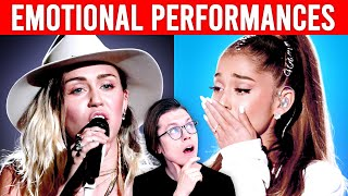 Singers crying on stage (EMOTIONAL)