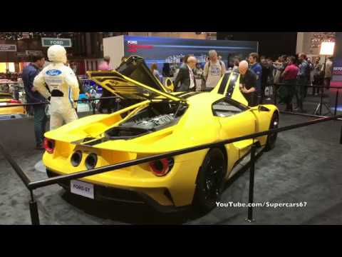 Geneva 2017 - Yellow 2018 Ford GT (4K)