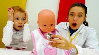 Кукла Эмили Беби Бон простудилась. Видео для девочек.