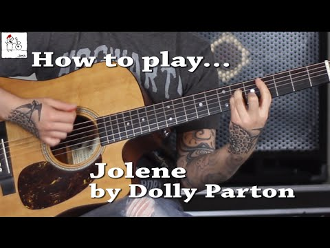 How To Play Jolene Dolly Parton With And Without Capo On Guitar