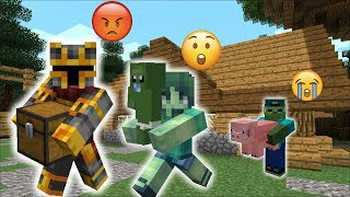MARK FRIENDLY ZOMBIE DECIDES TO MOVE OUT OF THE ZOMBIE HOUSE !! WE CANT STOP HIM !! Minecraft Mods