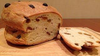 Хлеб с изюмом из пшеничной и ржаной муки