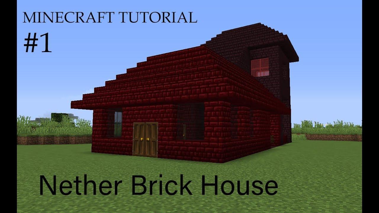 Minecraft Building Tutorial - Nether Brick House - YouTube