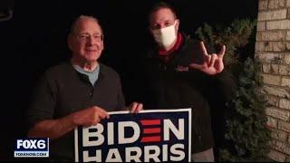 President Trump supporter replaces neighbor's stolen Biden sign