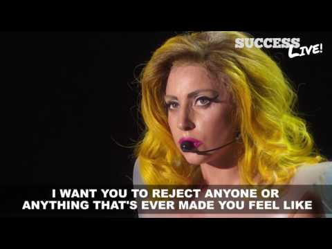 Empowering Speech by Lady Gaga - SuccessLive.com