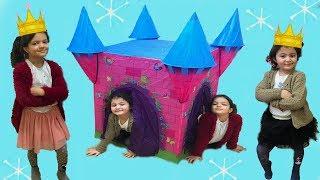 MASAL VE ÖYKÜNÜN YENİ PRENSES ŞATOSU - Disney Princess Play Castle Toys and Princess Dolls