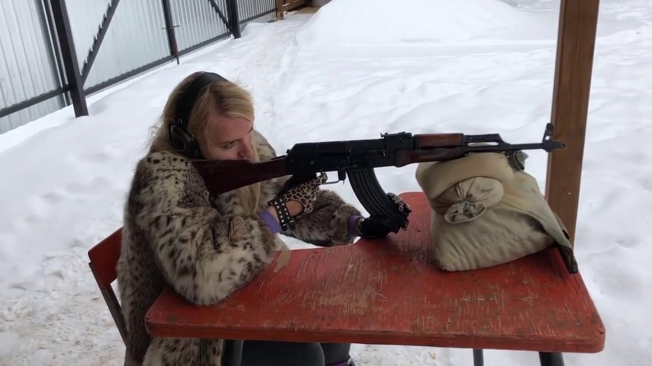 Girl Shoots Ak-47! - YouTube