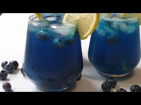 Blueberry Lemonade homemade easy instant drink