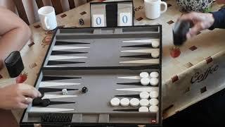 Короткие нарды (Backgammon 7pts) Вадим - Николай Подкосов (часть 1)