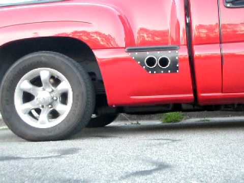 Ford Ranger Exhaust Tip >> silverado side exhaust - YouTube