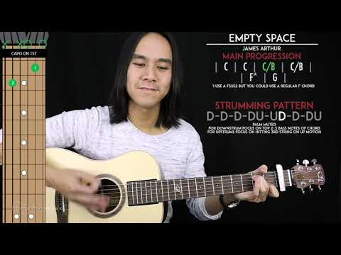 Empty Space Guitar Cover Acoustic - James Arthur  🎸  Tabs + Chords 