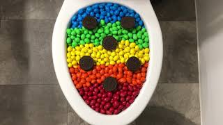 Will it Flush? - Rainbow M&M's and Oreos