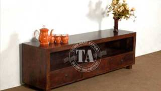 Wooden Lcd Plasma Tv Stand Indian Furniture Handicraft