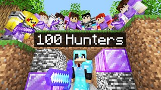 Minecraft Manhunt but it's VS 100 Netherite++ Hunters..