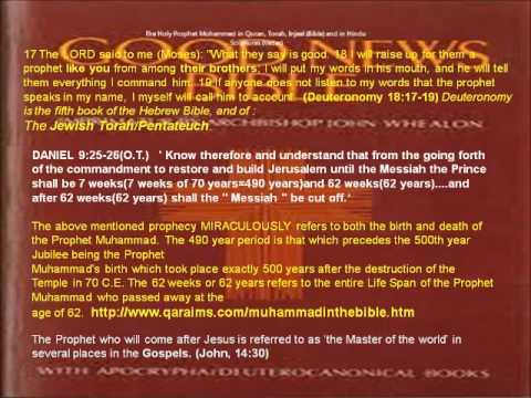 The Holy Prophet Mohammed in Quran, Torah, Injeel (Bible), Hindu ...