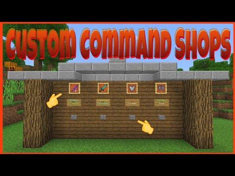 Minecraft (Bedrock) - Custom Command Block Shop's
