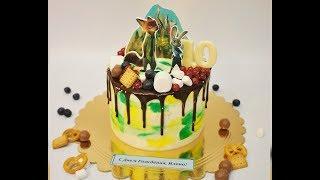 Секреты оформления торта сахарными картинками, ягодами и сладостями!