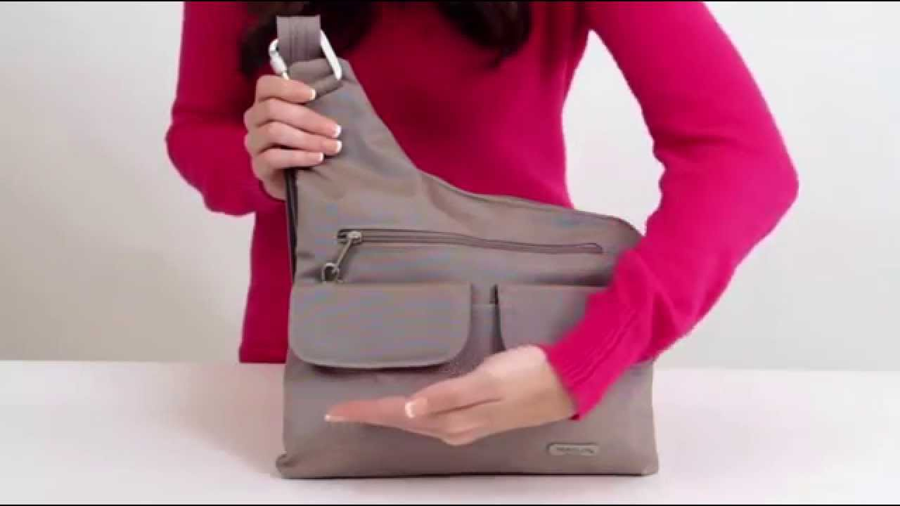 Travelon Anti Theft Cross Body Messenger Bag Rfid Blocking 42373