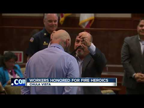 Chula Vista workers honored for actions during house fire